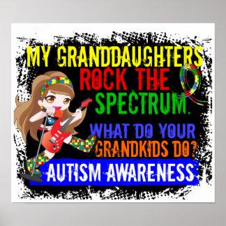Granddaughters Rock The Spectrum Autism Posters
