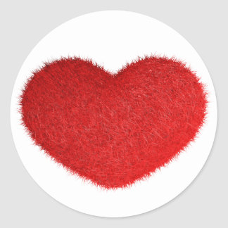 Grande Cuore Rosso. Classic Round Sticker