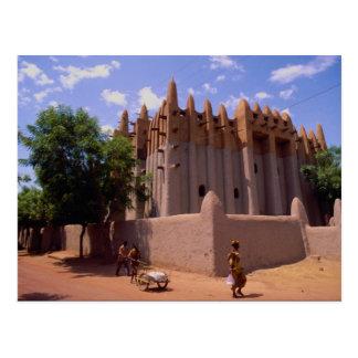 Grande Mosque, Sundanese type architecture, Mopti, Postcard