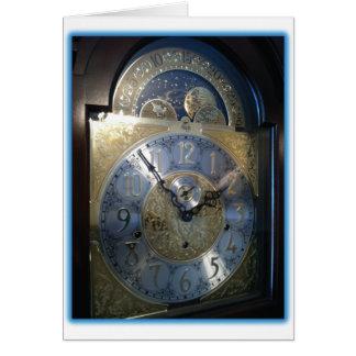 Grandfather Clock Face Card