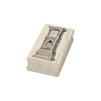 Grandfather Clock Vintage Rubber Art Stamp