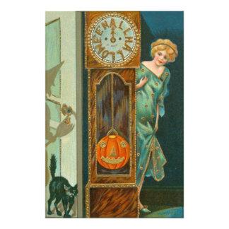Grandfather Clock Witch Pumpkin Black Cat Photo Art