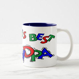 Grandfather Fathers Day Gifts Two-Tone Mug