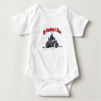 Grandfather is a Biker Baby Bodysuit