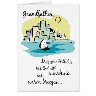 Grandfather Sailboat City Birthday Card