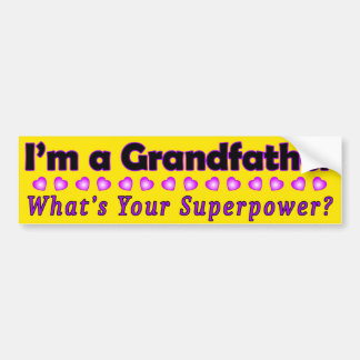Grandfather Superpower Bumper Sticker