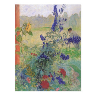 Grandfather with Flowers 1909 Postcard