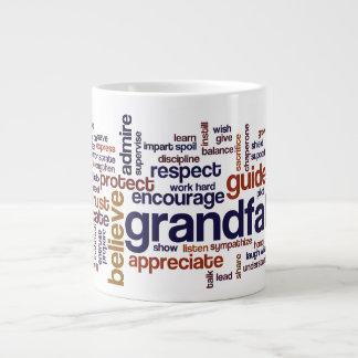 Grandfather Word Cloud Jumbo Mug
