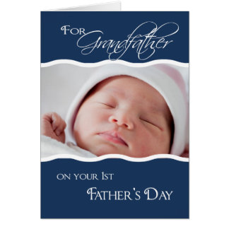 Grandfather's 1st Father's Day  - Photo Card