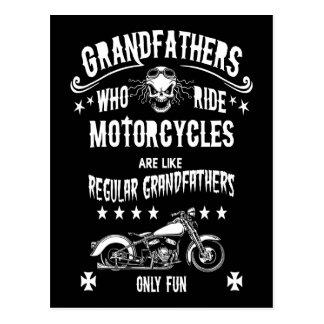Grandfathers Who Ride Postcard