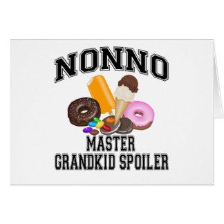 Grandkid Spoiler Nonno Greeting Card