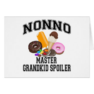 Grandkid Spoiler Nonno Greeting Cards