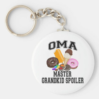 Grandkid Spoiler Oma Basic Round Button Key Ring