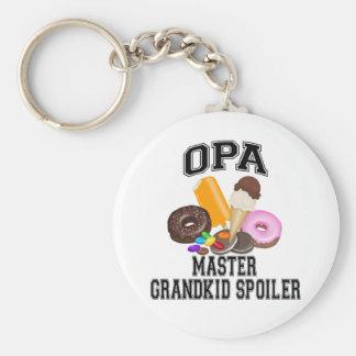 Grandkid Spoiler Opa Basic Round Button Key Ring