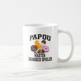 Grandkid Spoiler Papou Coffee Mug