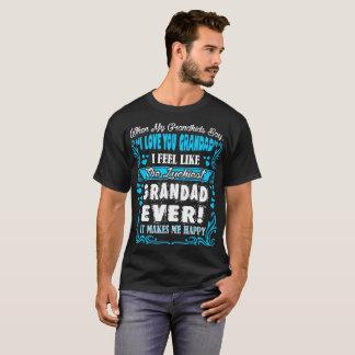 Grandkids I Love You Luckiest Grandad Ever Tshirt
