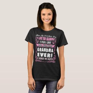Grandkids I Love You Luckiest Grandma Ever Tshirt