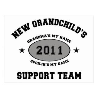Grandkids Support Team Grandma Postcard
