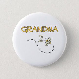 Grandma 2 Bee 6 Cm Round Badge