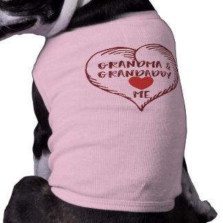 Grandma and Grandaddy Love Me Shirt