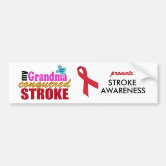 Grandma Beat Stroke Bumper Stickers