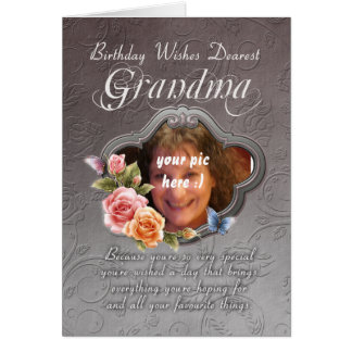 grandma birthday card - birthday your photograph h