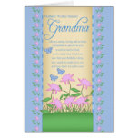 grandma birthday card flowers and butterflies