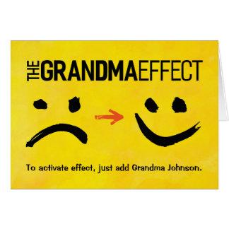 Grandma Birthday, The Grandma  Effect Card