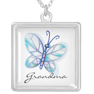 Grandma Butterfly Grandparents Necklace