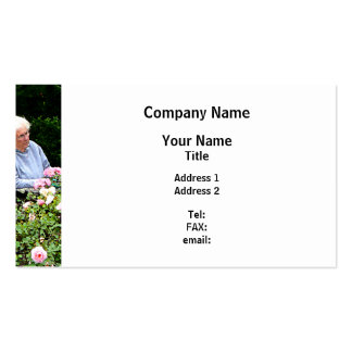 Grandma Cutting Roses Pack Of Standard Business Cards