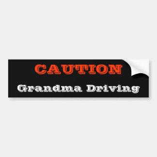 Grandma Driving Bumper Sticker