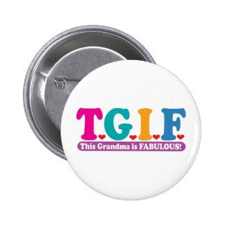 Grandma Fabulous 6 Cm Round Badge