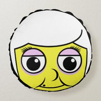 Grandma Face Round Cushion