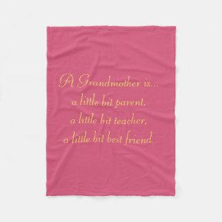 Grandma Fleece Blanket