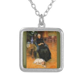 Grandma Gothilda with Dog Portrait Necklaces
