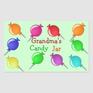 Grandma Grandpa Aunt Candy Jar or Bag Labels