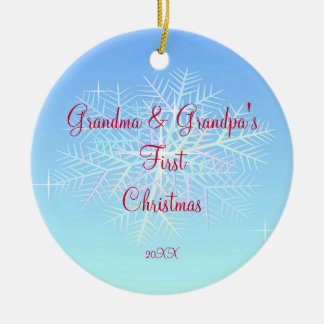 Grandma & Grandpa First Christmas Ornament