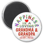 Grandma & Grandpa Happiness Refrigerator Magnet