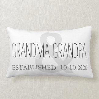 GRANDMA & GRANDPA New Grandparent Custom Date Lumbar Cushion