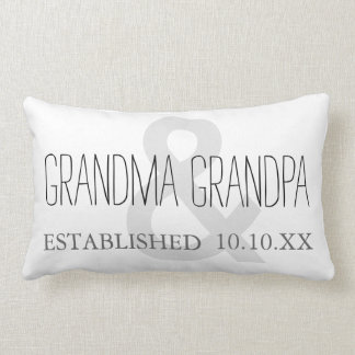 GRANDMA & GRANDPA New Grandparent Custom Date Lumbar Pillow