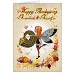 Grandma & Grandpa - Thanksgiving Card - Cute Littl