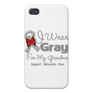 Grandma - Gray Ribbon Awareness iPhone 4/4S Covers