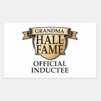 Grandma Hall of Fame Rectangular Sticker