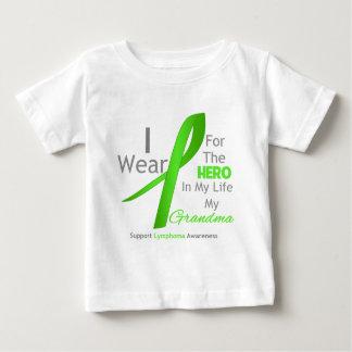 Grandma Hero In My Life - Lymphoma Baby T-Shirt