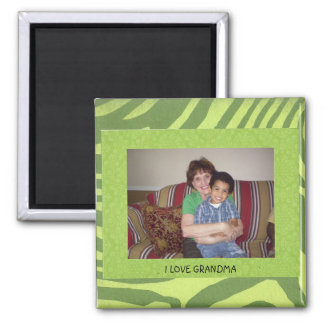 "Grandma: ""I Love Grandma"" Photo FrameTemplate Magnet"