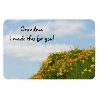 Grandma I made this with you! Fridge magents Poppy Magnet