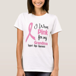 Grandma - I Wear Pink - Breast Cancer T-Shirt