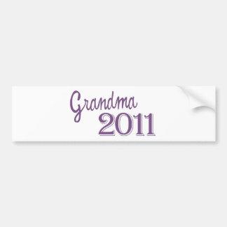 Grandma in 2011 bumper sticker