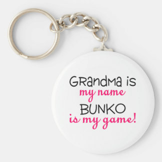 Grandma Is My Name Bunko Is My Game Key Ring