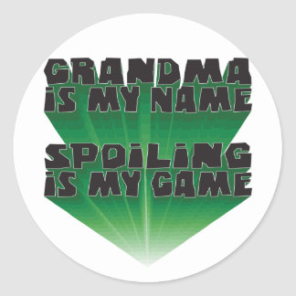 Grandma Is My Name Round Stickers
